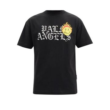 Palm Angels - Burning Head-print Cotton-jersey T-shirt - Mens - Black