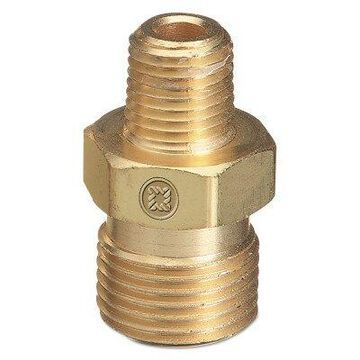 Male Npt Outlet Adapters for Manifold Pipelines, Brass, Carbon Dioxide, 1/2
