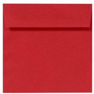 8 x 8 Square Envelopes - Ruby Red (1000 Qty.)