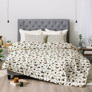 Deny Designs Pinecones 3-Piece Comforter Set