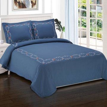 Superior Helena Premium Cotton Twill Fabric Embroidered Duvet Set