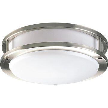 Progress Lighting LED CTC COMM 10.38-in Brushed Nickel LED Flush Mount Light ENERGY STAR   P7249-0930K9