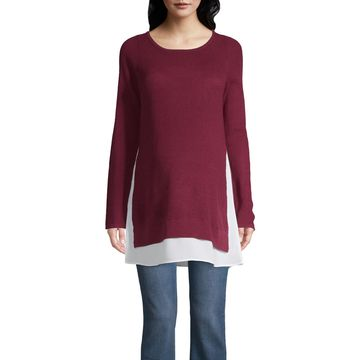 Belle & Sky Maternity Thermal Stitch Sweater