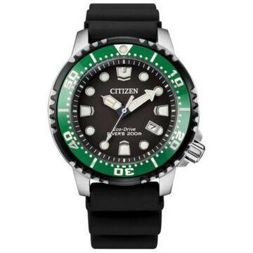 Citizen Eco-Drive Men's Professional Diver Black Strap Watch 42mm