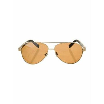 Aviator Mirrored Sunglasses Gold