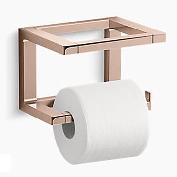 KOHLER Draft Vibrant Rose Gold Wall Mount Double Post Toilet Paper Holder | K-31750-RGD