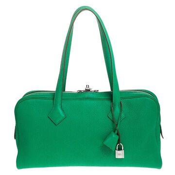 Hermes Bamboo Clemence Leather Victoria II Bag