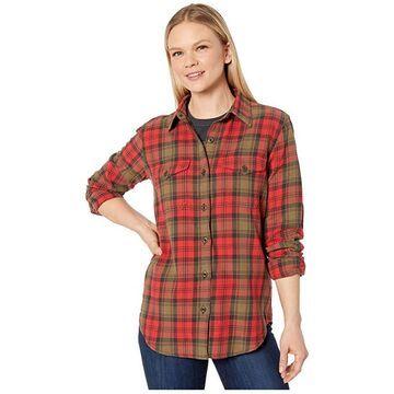 Filson Scout Shirt (Red/Black/Bark) Women's Clothing