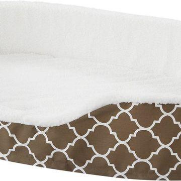 MidWest QuietTime Defender Teflon Geometric Orthopedic Nesting Pet Bed, Brown