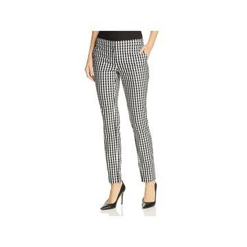 Lafayette 148 New York Womens Trouser Pants Plaid Slim Fit