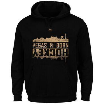 Men's Majestic Black Vegas Golden Knights Big & Tall Vegas Born Skyline Hockey Pullover Hoodie