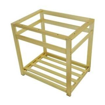 """Kingston Brass VSP3122A 31"""" Wide x 30"""" High Console Stand (Brushed Brass)"""