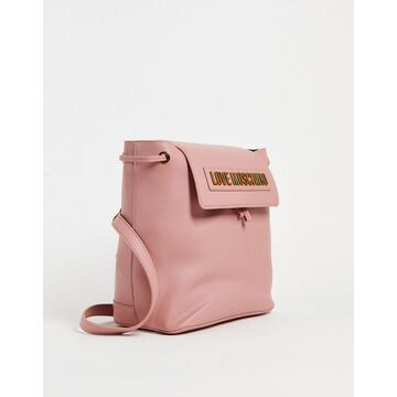 Love Moschino logo backpack in pink