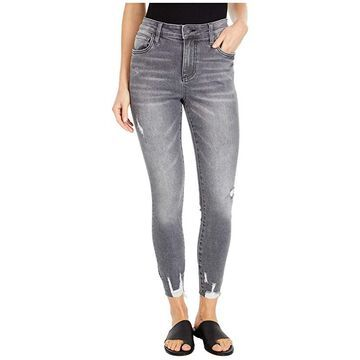 KUT from the Kloth Connie High-Rise Ankle Skinny with Raw Hem in Braver