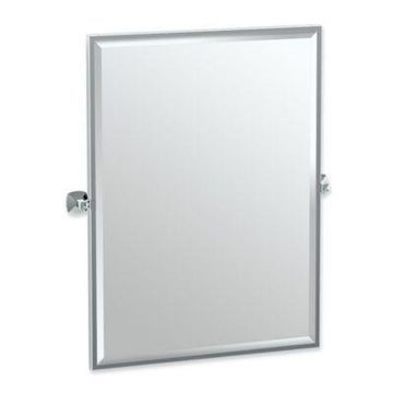 Gatco Jewel 25-Inch x 24.75-Inch Rectangular Framed Mirror in Chrome