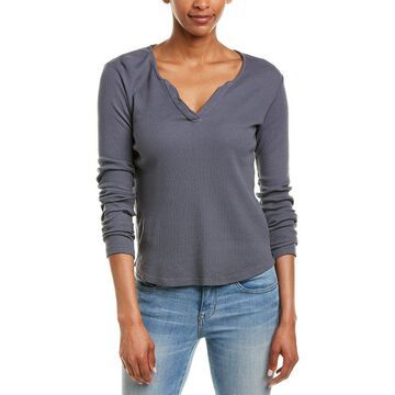 Monrow Womens Thermal Henley
