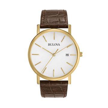 Bulova Men's Leather Watch - 97B100