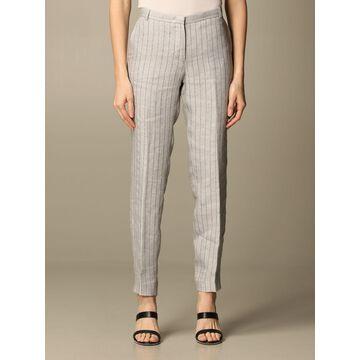 Classic Fabiana Filippi trousers in pinstripe linen