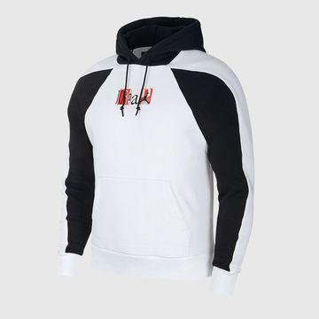Jordan - Men's Jordan Legacy Flight Nostalgia AJ9 Pullover Hoodie (White Black Neutral Grey)