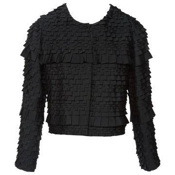 Emporio Armani Black Polyester Jackets