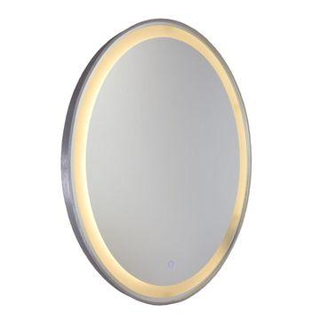 Artcraft Lighting Reflections LED Oval Brushed Aluminum Frame Mirror