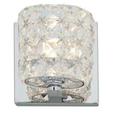 Access Lighting Prizm 1-Light Chrome Transitional Vanity Light | 23920LEDDLP-CH/CCL