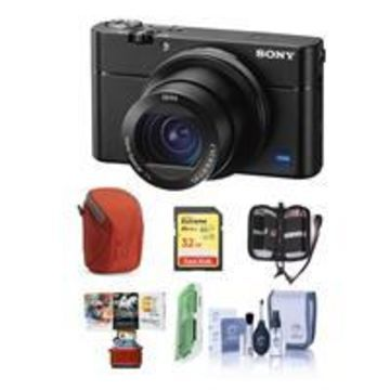 Sony Cyber-shot DSC-RX100 VA Digital Camera, Black - Bundle With 32GB SDHC U3 Card, Camera Case, Cleaning Kit, Memory Wallet, Card Reader, Mac Software Package