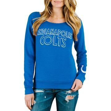 Indianapolis Colts Junk Food Women's Champion Fleece Sweatshirt - Royal