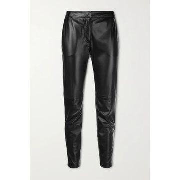 Altuzarra - Henri Cropped Leather Slim-leg Pants - Black