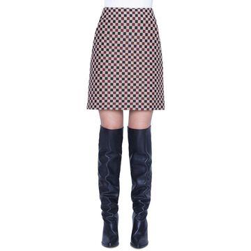 Check Jacquard Mini Skirt
