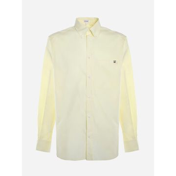 Loewe Cotton Shirt With Embroidered Anagram