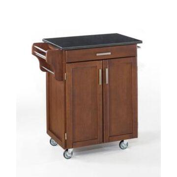 Home Styles Cuisine Cart Cherry Finish Granite Top