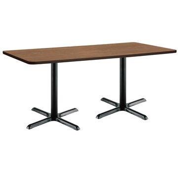 KFI Mode Rectangle Breakroom Table, X Base