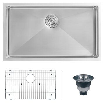 Ruvati 32-inch Undermount 16 Gauge Tight Radius Kitchen Sink Stainless Steel ...