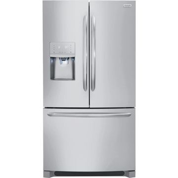 Frigidaire Gallery 21.7-cu ft Counter-depth French Door Refrigerator with Ice Maker (Fingerprint-Resistant Stainless Steel Stainless Steel) ENERGY STAR