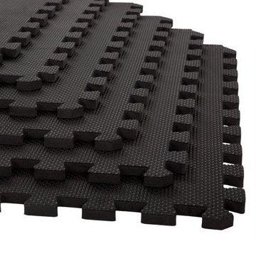 Foam Mat Floor Tiles, Interlocking EVA Foam Padding by Stalwart - Soft Flooring for Exercising, Yoga, Camping, Kids, Babies, Playroom - 6 Pack