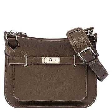 Hermes Etain Clemence Leather Jypsiere 31 Bag