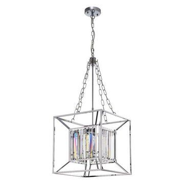 Warehouse of Tiffany Glass Pendant, Chrome