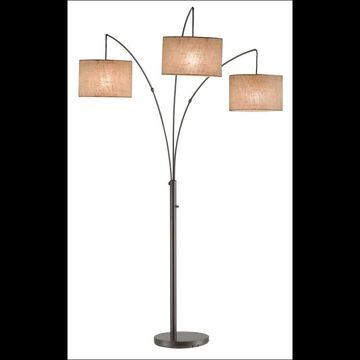 "Adesso 4238 Trinity 3 Light 82"" High Floor Lamp Antique Bronze Lamps Floor Lamps"