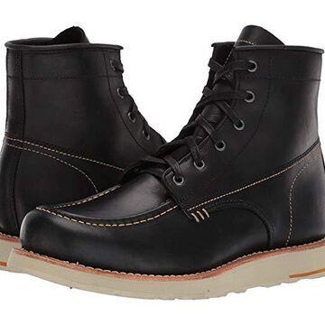 Georgia Boot Small Batch 6 Moc Toe Wedge (Black) Men's Boots