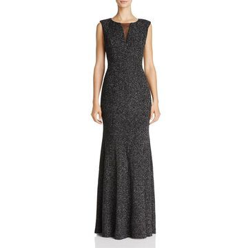 Eliza J Women's Shimmer Illusion Textured Gown Dress