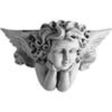 Ekena Millwork Angel 23.625-in x 14.125-in Polyurethane Sconce
