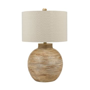 Catalina Lighting Coastal Driftwood Gourd Table Lamp