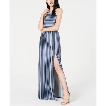 Juniors' Striped Maxi Dress