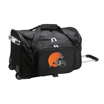 Denco Cleveland Browns 22-Inch Wheeled Duffel Bag