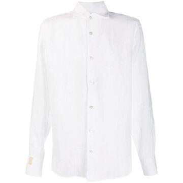 spread collar linen shirt