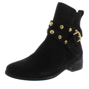 See by Chloe Womens Janis Leather Buckle Ankle Boots