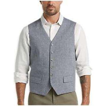 Joseph Abboud Blue Linen Vest