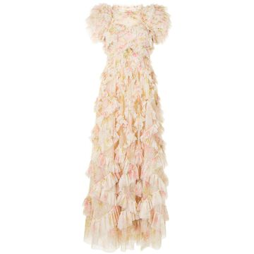Genevieve Rose ruffle gown