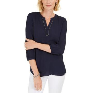 Jm Collection Split-Neck Tunic, Created For Macy's